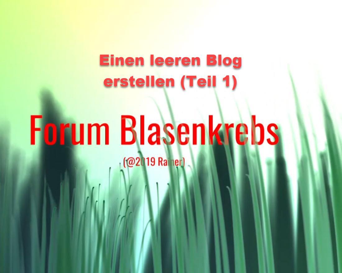 Der Foren Blog Teil 1