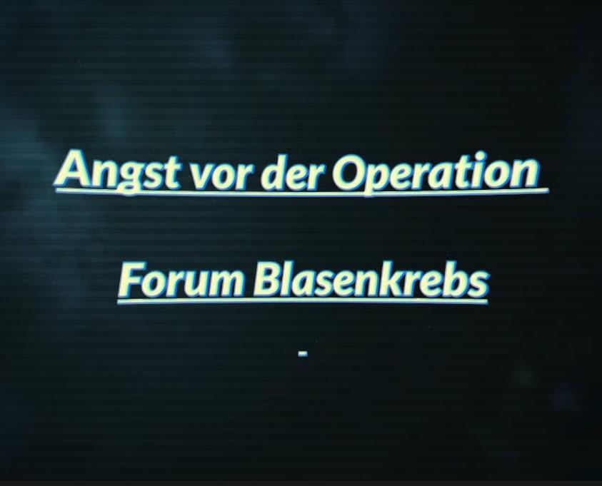 Angst vor der Operation ?