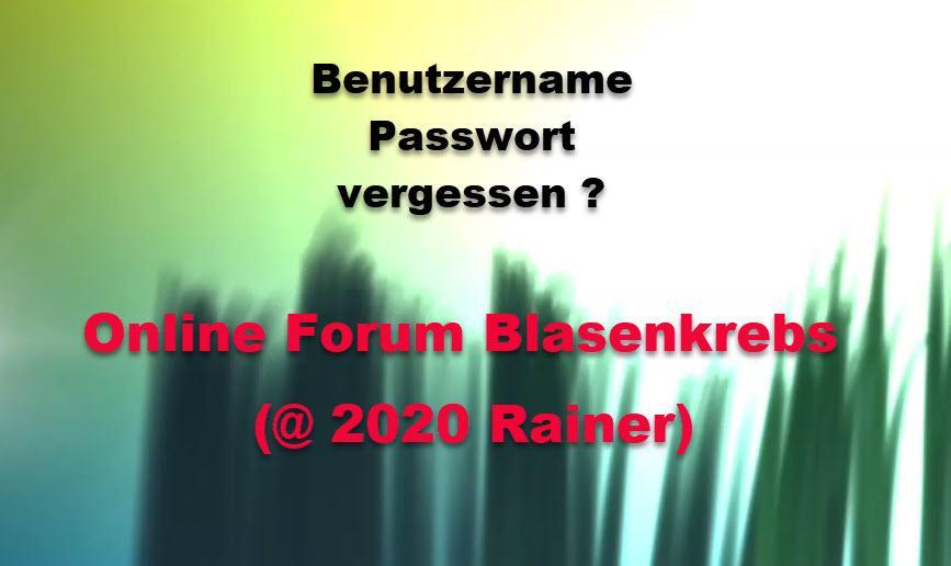 Passwort / Benutzername vergessen ?