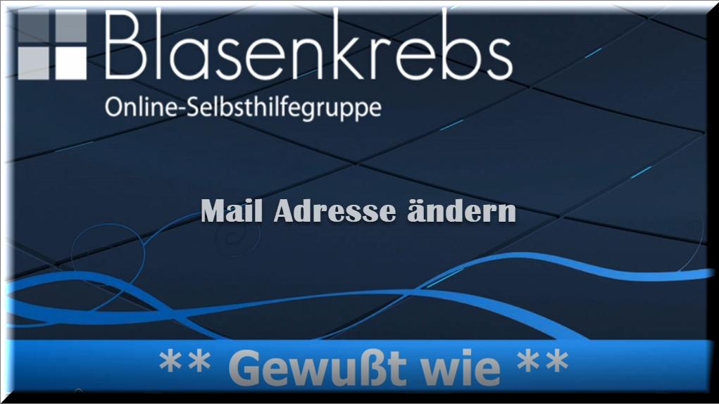 Mailadressen ändern / anpassen