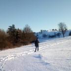 bei glitzerndem Schnee.......